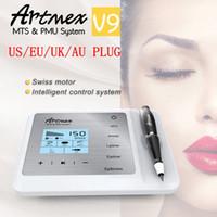 Wholesale derma beauty pen resale online - High Quality in fuction Artmex V9 Digital permanent makeup Machine MTS PMU Derma Pen Eyebrow Lip Eyeline Skin Care Beauty