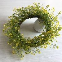 ingrosso ghirlanda viva-Modello di simulazione di primavera verde ghirlanda di piante ghirlanda di plastica soggiorno giardino decorazione della finestra casa ghirlanda decorativa fiore finto