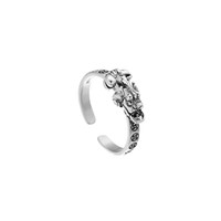 серебряное кольцо оптовых-Стерлинговые серебряные кольца 925 пробы для женщин Личность Простой стиль Lady Prevent Allergy Sterling-silver-jewelry