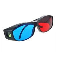 Wholesale 2PCS DVD Vision Black Frame Game Fashion Cinema Red Blue D Glasses TV Movie Dimensional Anaglyph Easy Wear Virtual Ultra Clear