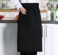 hotel aventais venda por atacado-Metade da Cintura Avental para o Cozinheiro Café Café Garçom Garçonete Cozinha Cozinhar Hotel Chef Aventais Chef Uniformes Cintura Avental