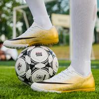мужская футбольная обувь оптовых-Марка Мужчины Крытый обувь для взрослых Superfly дышащий высокого качества Дешевые Оригинальные детские бутсы Chaussure De Футбол Бутсы