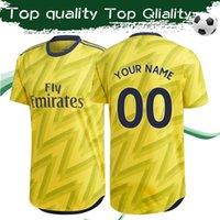 ingrosso camicie uniformi per la vendita di uomini-NUOVA ARRIVA ARS Away Yellow Soccer Jersey 2019/20 Gunners Away - Maglia da calcio per uomo 2019 Top Quality Highbury - Divise da calcio le vendite