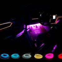 accionamiento inversor al por mayor-Maxup Freeshipping 5 M luces decorativas del coche flexible luz de neón coche con 10 colores 12v drive inversor decoración lámpara Nueva llegada