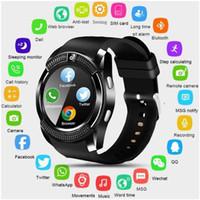 zapatos de futbol usa al por mayor-Reloj elegante V8 SmartWatch Bluetooth pantalla táctil reloj con ranura / tarjeta SIM de la cámara a prueba de agua reloj inteligente DZ09 X6 VS M2 A1