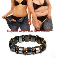 Wholesale magnetic health care bracelet resale online - Heath Care Magnetic Bracelet Weight Loss Bracelets Health Hand Chain Black Stone Bracelet Arthritis Pain Relief Magnetic Therapy MMA2069