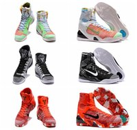 продажа плетеной обуви оптовых-Горячие Продажи Кобе 9 Высокий Плетение BHM / Пасха / Рождество Баскетбольная Обувь для 3A + качество Мужская KB 9s Мода Обучение Спортивные Кроссовки Размер 40-46