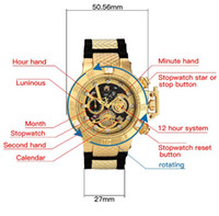 Wholesale resin watches for sale - Group buy High quality swiss cosc INVICTA unbeaten model Super rotating dial Stopwatch Luminous Calendar chronograph Men s Quartz watch
