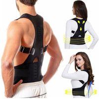 apoyos para la espalda al por mayor-Hot Male Female Ajustable Corrector de Postura Magnética Corsé Volver Brace Volver Cinturón Soporte Lumbar Corrector Recto Despalda S-XXXL tamaño