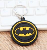 Wholesale batman led lights for sale - Group buy Marvel key Batman key chain Avenger key plastic gift