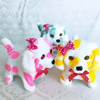 Wholesale Cute Electric Spotted Dog Short Plush Toy Children Birthday Gift Luxury Sound Luminescence Toys Hot Sale sq Ww