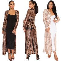 HISIMPLE 2019 New Open Stitch Cloak coat African riche bazin dress for women Sexy Sequins Perspective Night Club Cardigan Cloak Long Jacket