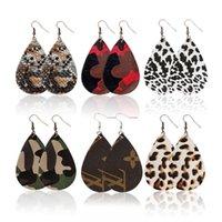 ingrosso ornamenti alla moda-Lady in pelle orecchini a goccia Orecchini di leopardo dell'orecchino di goccia del partito regalo ornamento per la moda di Charme Donne Ragazze O26FZ