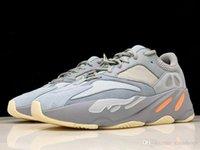 yeni yardımcı kutu toptan satış-Adidas Yeezy Boost shoes 2019 En Kaliteli Kutusu Makbuz Ile Erkek Ayakkabı Yeni Renkler 700 Alt Ay Allık Yardımcı Siyah Erkek Kadın Rahat Sneakers