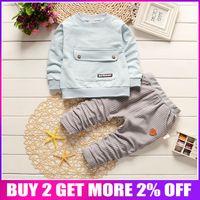 ingrosso vestito da bambino-Commercio all'ingrosso Baby Boy Set di abbigliamento Bebe Boys Sport Suit 2019 Nuovo arrivo Bambini Boy Clothes Set Infant Boy Shirt + Pants