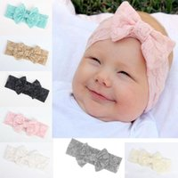 Wholesale childrens hair braiding resale online - Baby Lace Headbands Girls Hair Braided Childrens Soft Bowknot Hair Accessories Head Wrap Lovely Infant Elastic Headband Headwraps