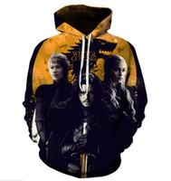 Wholesale fashion fantasy game resale online - Right Game Fantasy D Digital Printing Hoodie Guard