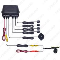 ingrosso sensori di parcheggio-Leewa Car 4 sensori retrovisore sensore di parcheggio retromarcia Sistema di soccorso con montaggio 16,5 millimetri esterno Camera # 1872