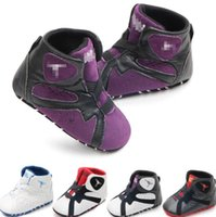 Wholesale walker shoes sneakers online - newborn baby shoes kids first walk learning shoes PU Leather Newborn First Walker Infant Prewalker Sneakers Shoes KKA6739