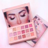 Wholesale free nude photos online - New Nude Makeup palette hudamoji NUDE colors Eyeshadow Palette matte shimmer PVC package real photos