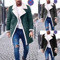 erkek pantolon ceketleri toptan satış-Tasarımcı Katı Hendek Coats Moda Polar Sıcak Kış erkek ceketi Artı boyutu Casual Uzun Coats Mens