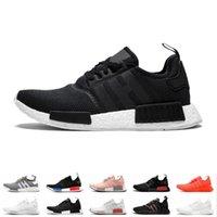 venda do japão venda por atacado-NMD R1 Primeknit Running Shoes Homens Mulheres Triplo Preto Branco Og clássico Tri-cor cinza Oreo Japão Red Sneakers Esportes Tamanho 36-45 venda on-line