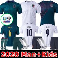 el shaarawy jersey venda por atacado-HOMEM + crianças 2019 2020 ITÁLIA futebol Jersey 19 20 verde escuro JORGINHO EL Shaarawy Bonucci INSIGNE BERNARDESCHI camisas de futebol
