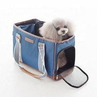 Wholesale drop shipping designer handbags for sale - Group buy Denim Dog Carrying Bags Little Small Animal Chihuahua Yorkshire Portable Outdoor Pet Handbag Drop Shipping Transportation Goods