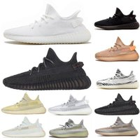 Wholesale floor tails for sale - Group buy mens trainers designer shoes Kanye West Static casual shoe Cinder Desert Sage Earth Tail Light Zebra women running shoes mens shoes size