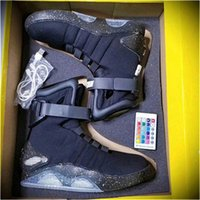 Wholesale limited edition rubber shoes for men for sale - Group buy AIR MAG Back Future led shoes high top Marty mCfLy Colorful Led Shoes For men Luxury Grey Black charger Mag Limited Edition Sneaker