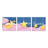 Wholesale baby room paint decor for sale - Group buy Unframed Baby Kids Room Painting Poster Print Moon Clouds Stars Picture Nursery Art Decor