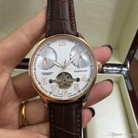 reloj de mano fina al por mayor-3Un lujoso reloj automático para hombres, correa de piel italiana, movimiento de oro puro tallado a mano, caja de acero fino 316. Serie deportiva reloj
