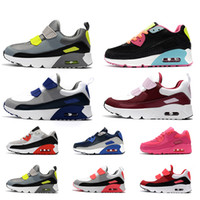 Nike Air Max 90 libera per bambini Bambini Ragazzi Scarpe da bambina Scarpe da ginnastica per bambini Sneakers NIK Nero Bianco Rosa Blu Volt Scarpe da