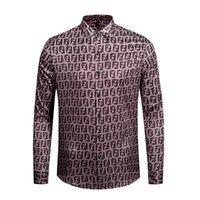 estilos de italia dos homens venda por atacado-itália roupas de marca 2019 novo estilo de moda camisa de manga longa medusa de ouro impressão 3d medusa camisa dos homens m-xxl.
