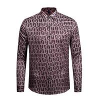 camisas de hombres estilos de italia al por mayor-Italia Marca de ropa 2019 Nuevo estilo Moda Camisa de manga larga Medusa dorada Estampado 3d medusa Camisa de hombre M-XXL.