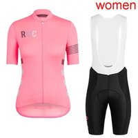 Wholesale team road cycling jerseys women resale online - High quality pro team RCC Women Classic Short sleeve Cycling Jersey cycling shirt bib shorts set Breathable road bike clothes Y032001