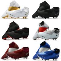 zapatos ag al por mayor-Botines de fútbol para hombre Calcetines Phantom VSN Elite DF AG Zapatos de fútbol para exteriores x EA Sports Phantom Vision Botas de fútbol Scarpe calcio Tamaño 39-45