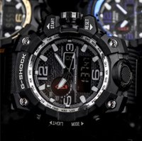 Wholesale led watches digital sports men for sale - Group buy Fashion Mens G Style Military Wristwatches Multifunction LED Digital Shock Quartz Sport Watches for Man Male Students Clock With Box