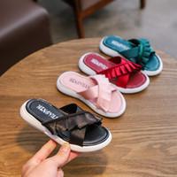 12b62d2c3 Wholesale kids flip flops for sale - Baby ruffle lace flip flop summer  Fashion Kids Slipper