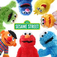 çocuk oyuncakları toptan satış-36 cm Susam Sokak Elmo Peluş Oyuncaklar Yumuşak Dolması Doll Kırmızı Hayvan Doldurulmuş Oyuncaklar noel Hediyeleri Çocuklar Için oyuncaklar