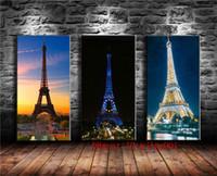impresiones de la lona de la torre eiffel al por mayor-Torre Eiffel 02, 3P Canvas Pieces Home Decor HD Impreso Arte Moderno Pintura sobre Lienzo (Sin Marco / Enmarcado)