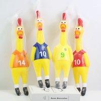 kraft spielzeug großhandel-Neuheit und Spaß beim Beobachten der Macht des Fußballs unterstützt Kampf Huhn, Kraft Kontrolle Kunststoff Tierspielzeug Netzbeutel Verpackung