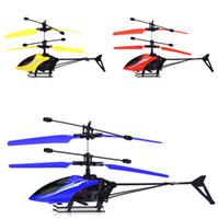 ingrosso vendita di aeromobili-Giocattoli per bambini Originalità Vendita calda Elicottero volante di alta qualità Mini RC Infrarossi Induzione Aerei Lampeggiante Drone Giocattoli Regali di Natale