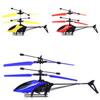 Wholesale brushless mini rc helicopter resale online - Kids Toys Originality Hot Sale High Quality Flying Helicopter Mini RC Infrared Induction Aircraft Flashing Light Drone Toys Christmas Gifts
