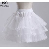 Wholesale short tutu dresses for prom resale online - Wellbridal Girls Underskirt Short Dress Petticoat for Prom Lolita Petticoat Ballet Tutu Skirt Rockabilly