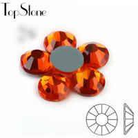 Wholesale dmc rhinestone ss6 resale online - Hyacinth Orange Hot fix Rhinestones High Quality SS6 SS16 SS20 SS30 Iron On Rhinestones For Clothes DMC Glass Crystals