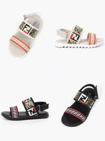 Wholesale new pattern children shoes resale online - gladiator sandal kid shoe boy black beach slipers cheap baby girl pink shoes sandal new child shoes summer korean sandal with box