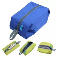 Wholesale travel kit clothes online - 4 Colors Durable Bluefield Ultralight Outdoor Camping Travel Shoes Storage Bags Waterproof Oxford Swimming Bag Travel Kits CCA10827