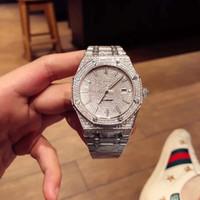 мужские роскошные часы с бриллиантами оптовых-TW роскошные мужские часы автоматические механические часы оригинальные складные часы пряжка полный ручной набор алмаз 41 мм роскошные алмазные часы