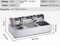olla eléctrica al por mayor-Máquina de cocción comercial de horno eléctrico. 3 cilindros, picante, olla caliente, máquina. Chuleta de pollo.